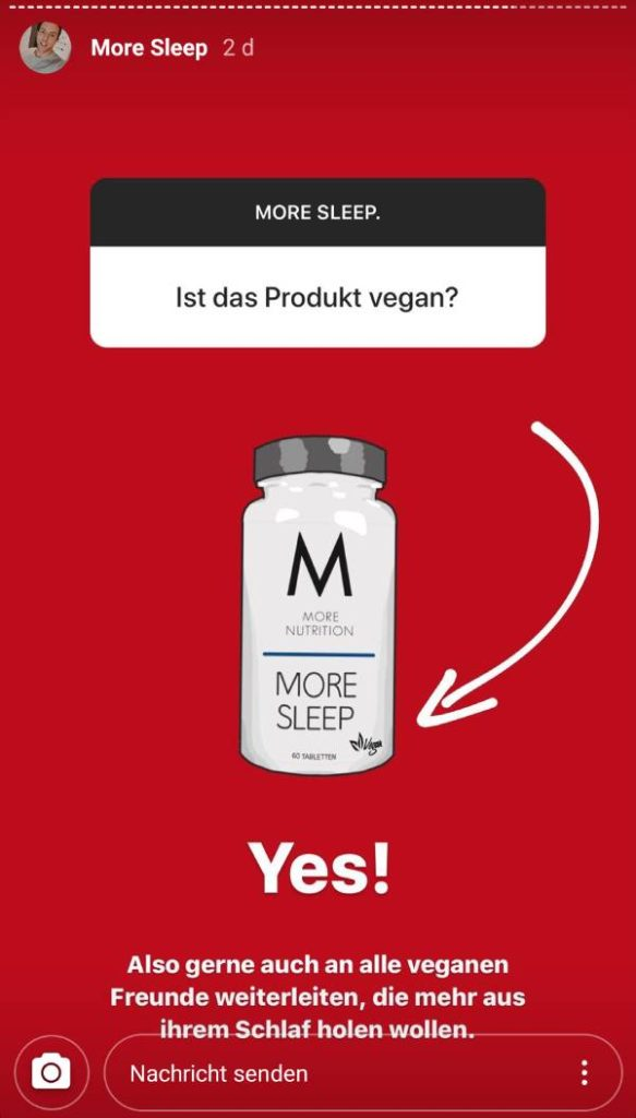 MORE SLEEP Vegan