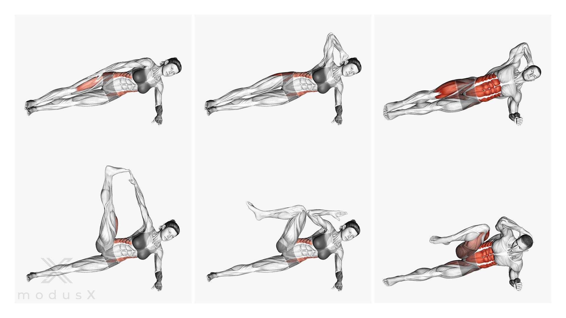Side Plank Crunches